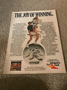 1980 ADIDAS STAN SMITH TENNIS HOGAN II TRX HIGH POINT Shoes Poster Print Ad