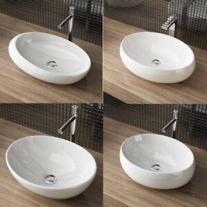 Design Waschschale Aufsatzwaschbecken Waschtisch Keramik Nano Oval Rund NEU