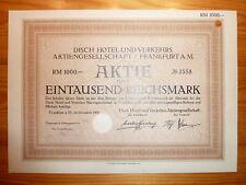 D: svedese Hotel & Trasporti AG, Frankfurt, 1929, 1000 RM *