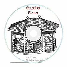 GAZEBO PLANS PACKAGE, 13 DIFFERENT ORIGINAL DESIGNS, STEP BY STEP DIY WOOD PLANS