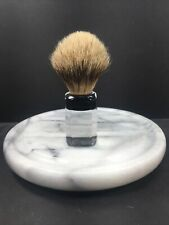 Vtg Shave Brush Ever Ready Model 1500 Pure Badger Lucite Usa Clean Great Shape