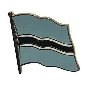 Botswana National Flag 3/4 Gold Plated Courtesy Enamel Pin Badge