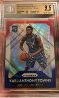 Karl Anthony Towns Rookie Card Prizm Refractor Red White Blue BGS 9.5 Gem Mint