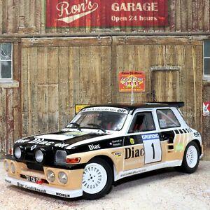 Renault 5 Maxi Rallye Du Var 1986 1:18 Scale Detailed Die-cast Metal Model Car