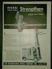 1945 YALE FORKLIFT FORK TRUCK INTERNATIONAL NICKEL CO vintage Trade print ad