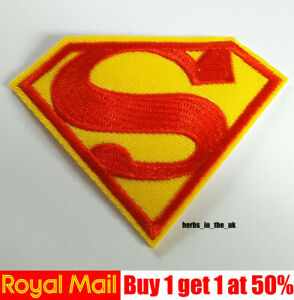 Superman Super man Logo Iron On / Sew On Patch Badge , Marvel Comics