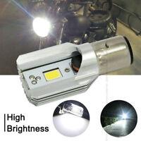 Motorcycle LED Headlight Headlamp DC/AC 6-80V 12W H/L COB BA20D White Light Bulb