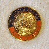 VINTAGE 1986 MLB NEW YORK METS WORLD SERIES BASEBALL PRESS PIN by BALFOUR
