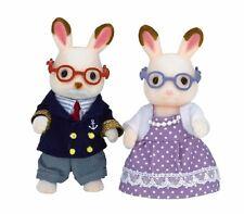 Calico Critters HOPSCOTCH GRANDPARENTS w Glasses (Grandma & Grandpa) ~NEW~