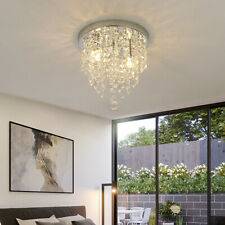 Villa Led Crystal Aisle Lights Luxury Ceiling Lamp Round Porch Lights Wall Mount