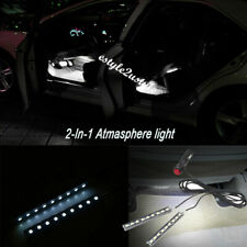 9 LED White Lamp Car Interior Cigarette Lighter Plug Decoration Atmosphere Light