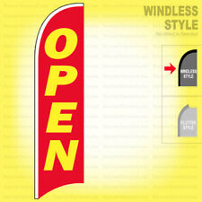 Open - Windless Swooper Flag 2.5x11.5 ft Feather Banner Sign rb