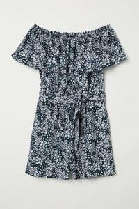 H&M Floral Playsuit off shoulder, Size 12