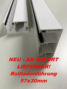 PVC Rollladen Führungsschienen Rollladenführung 57x30mm weiß (SET) 80cm - 190cm