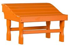 4 Season Outdoor Ottoman - Orange All Weather Outdoor Adirondack Footrest Usa