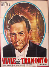 MANIFESTO, VIALE DEL TRAMONTO Sunset Boulevard BILLY WILDER, SWANSON, FILM NOIR