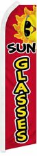 """SUNGLASSES"" super flag swooper banner sign business red"
