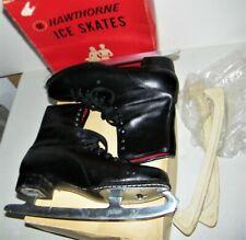 New listing Vintage Mens Black Hawthorne Figure Canadian Ice Skates w/ Guards Size 10 E.C.