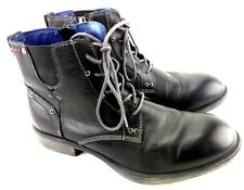 Replay RC090002L Sz 41 Zip Side Laced Black Ankle Combat Boot 157-7
