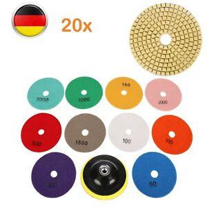 20x Diamant 10cm Polierscheiben Schleifpad Polierpad Steinschleifer Für Granit