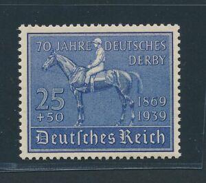 """DT. REICH 1939, Mi. 698 **, """"Derby"""", tadellos!! Mi. 80,--!!"""
