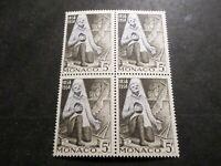 MONACO 1958, timbre 495 en bloc, BOURIETTE 1° MIRACULE', LOURDES, neuf**, MNH