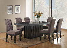 Kings Brand 7-Piece Rectangular Dinette Dining Room Set, Table & 6 Chairs, Gray