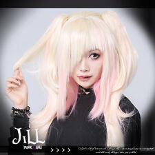 Lolita anime cosplay Kiryu Hiyori platinum blonde ombre wig w/ pigtail【JPLH082】
