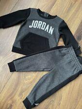 New Nike Air Jordan Baby Boys 2pcs Tracksuit Jumper & Joggers Size 12-18 Months