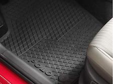 Genuine Volkswagen Polo Rubber Floor Mats Rear Only Set of 2 06/2009-10/2017