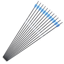 "30"" 6.0mm Mixed Carbon MAK Arrows SPF1000 Archery Training Shooting Target 12pcs"