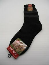new Men's One Size Black/Gray Winter Knit Rabbit Wool Crew Socks