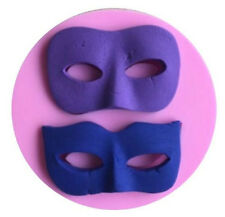 Masquerade Mask Silicone Mold for Fondant, Gum Paste, Chocolate, Crafts NEW
