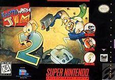 Earthworm Jim 2 (Super Nintendo Entertainment System, 1995) Snes Game Only Neshq