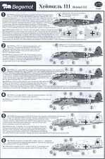 Begemot Decals 1/72 HEINKEL He-111 German WWII Bomber Part 1
