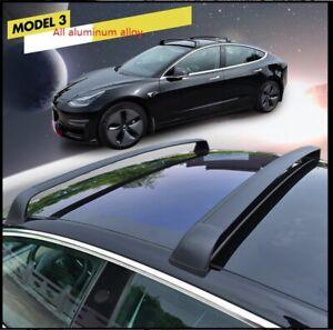 Roof Rack Cross Bars FOR Tesla Model 3 2018-2020 Cargo Rail Aluminum Black 2PC