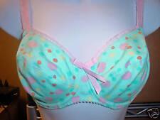 9026b1d6fe797 Freya AA2022A Underwire Aqua polka Dots UK Size 32D US Size 32D NWT