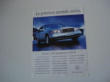 advertising Pubblicità 1997 MERCEDES C 200 KOMPRESSOR