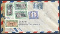 GUATEMALA TO ARGENTINA Air Mail Censored Cover 1941 VF