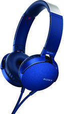 Sony-Mdrxb550al Blue Sony On-Ear Extra Bass Take C Headphone
