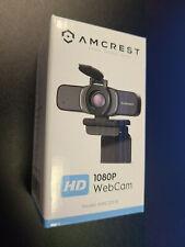 New Sealed in Box Amcrest HD Webcam 1080P USB Mic Live Streaming AWC201-B