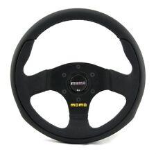 Momo Cuir Sport Volant équipe 28 280 mm Noir Black Steering Wheel volante