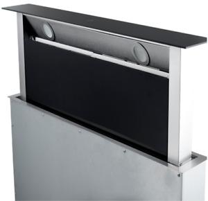 WOLKENSTEIN WDD1-90A+BTY Tischhaube Downdraft Abluft / Umluft Glas Schwarz 90cm