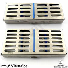 2 X Sterilization Cassette Rack Tray Hold 5 & 7 Dental Surgical Ortho Tools CE