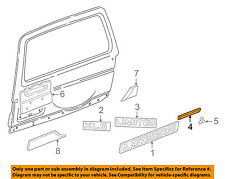 MITSUBISHI OEM Montero Liftgate Tailgate Hatch-Emblem Badge Nameplate MR520115