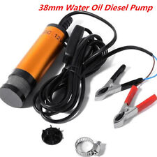 12V 38mm Submersible Pump Water Oil Diesel Fuel Transfer Refueling Detachable