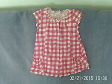 Checked Short Sleeve Tunic Girls' T-Shirts & Tops (2-16 Years)