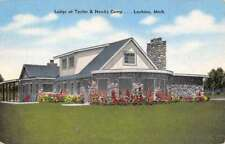 Lachine Michigan Taylor Hawks Camp Lodge Antique Postcard K68889