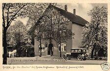 13526/ Foto AK, Gütersloh, Gasthof Zu den Linden, Bahnpost, 1931