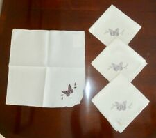"NWT 4 LENOX *BUTTERFLY MEADOW CUTWORK* 19"" SQUARE NAPKINS"